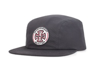 Brixton & Independent Crook snapback (washed black)