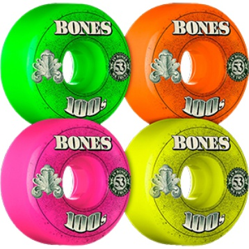 Bones 100's Wheels 52mm(assorted)