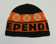 Independent Woven Cross Beanie (black/orange)