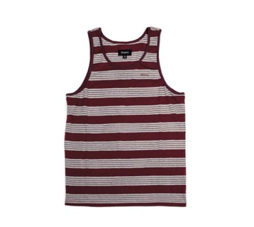Brixton Abram Tank Top (burgundy/heather grey)