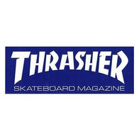 "Thrasher Magazine ""Skate Mag"" Sticker Large (blue)"