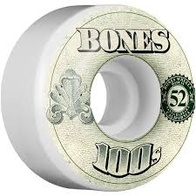 Bones 100's $ Wheel Natural 100A (51mm-55mm)