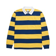 Polar Block Stripe Polo Longsleeve (navy/yellow)