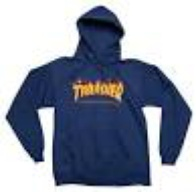 "Thrasher Magazine ""Flame"" Hooded Sweater (navy)"