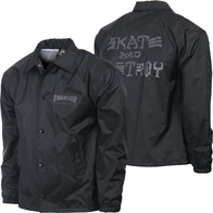 "Thrasher Magazine ""SAD"" Coachjacket (black)"