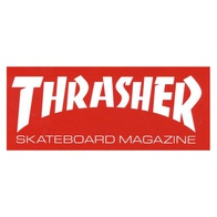 "Thrasher Magazine ""Skate Mag"" Sticker Large (red)"
