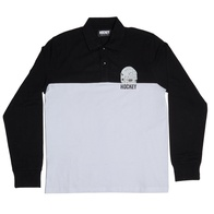 Hockey Mask L/S Polo shirt (zwart/wit)