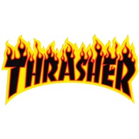 "Thrasher Magazine ""Flame"" Sticker Small (black)"