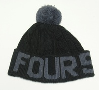 Fourstar Pompom Beanie (black/charcoal)