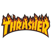"Thrasher Magazine ""Flame"" Sticker Large (yellow)"
