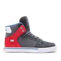 Supra Vaider Kids (dark shadow/athletic red/white)