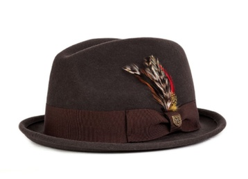 Brixton Gain Fedora (dark brown)