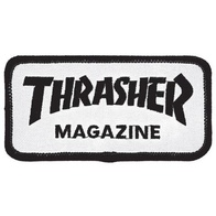 "Thrasher Magazine ""Skate Mag"" Patch (white)"