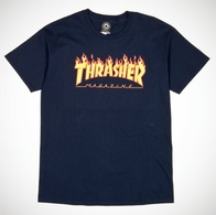 "Thrasher Magazine ""Flame"" T-Shirt (navy)"