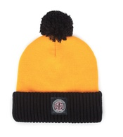 Brixton & Independent Craig Pom Beanie(yellow/black)