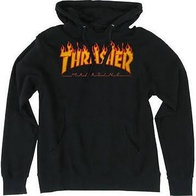 "Thrasher Magazine ""Flame"" Hooded Sweater (black)"