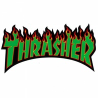 "Thrasher Magazine ""Flame"" Sticker Large (green)"
